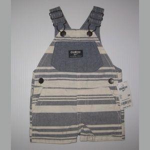 Carter's Baby Boy Chambray Striped Shortalls, 3M